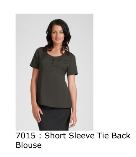 705 short sleeve tie back blouse